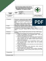 9.1.2.3 Sop Penyusunan Indikator Mutu Klinis Dan Indikator Perilaku Pemberi Layanan Klinis