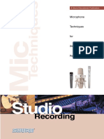 Microphone Techniques for Music - Studio Recording