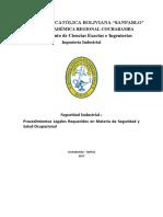 Reglamentacion de procedimientos en seguridad y salud ocupacional en bolivia