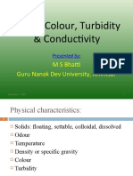 Solids Colour Turbidity Conductivity