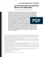 Association Between Serum Uric Acid Level and Chronic Liver Disease in the United States