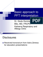 PFT Interpretation Dr Giulio Dominelli
