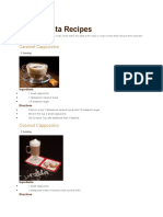 Cafe Barista Recipes