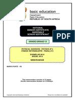 Physical Sciences P1 Exemplar 2014 Gr 12 Memo Afr & Afr.pdf