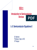 EE311 L3 Semiconductor Equations
