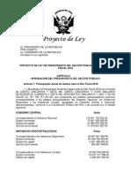PL Presupuesto 2018