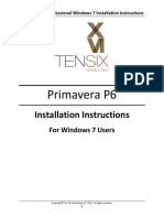 Primavera P6 Professional Windows 7 Installation Instructions