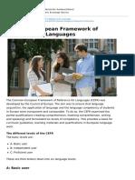 Deutschland Studienangebote Sommerkurse en 1 Common European Framework of Reference for Languages