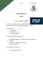 Sensory Analysis - Section 2