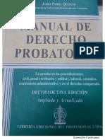 Parra Quijanoo Jairo, Manual de Derecho Probartorio