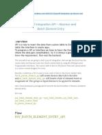 Enter Absence API