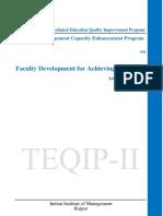 TEQIP Brochure Faculty Development Progam