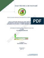 Informe (Aplicación del programa HEC-HMS 3.5 para la determinación de hidrográmas y caudales máximos)
