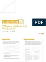 Study Plan VMware VSphere 5.5 VCP5 DCV