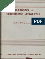 Paul Anthony Samuelson-Foundations of Economic Analysis-Cambridge, Harvard University Press, (1947)