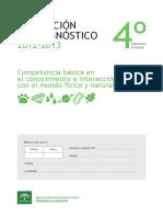 Evaluación de diagnóstico 2012-2013. Ciencias. Andalucia