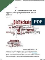 Blockchain_ i Benefici Concreti e Le Applicazioni Più Promettenti Per 27 Settori
