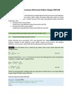 01 Penyelesaian Persamaan Diferensial Ordiner Dengan MATLAB