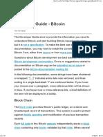 Developer Guide - Bitcoin