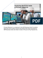 Monitoring and Analyzing Business Suite Processes Using Process Observer