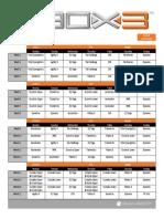 P90X3 Deluxe Calendars