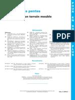Stabilité Des Pentes - Glissements en Terrain Meuble - TIPesp-c254