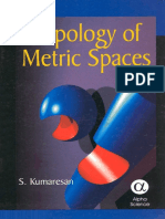 s Kumaresan Topology of Metric Spaces Alpha Science International Ltd 2005