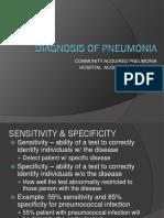 Diagnosis of Pneumonia