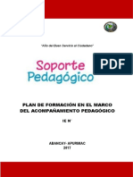Plan Acompañamiento Para Especialistas de Formación Docente Institucional