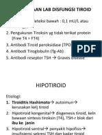 Pemeriksaan Lab Disfungsi Tiroid