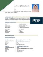 Sabrina Tasmin IIUC BBA Finance & Banking BBA CV Upload