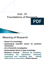 Ch 1 Foundations of Research