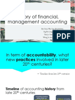 History of Financial Management Accounting