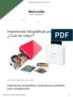 Impresoras Fotográficas Portátiles, ¿Cual Es Mejor