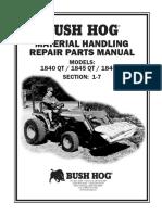 Bush Hog Loader 1845QT Parts Manual