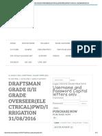 Draftsman Grade Ii_ii Grade Overseer(Electrical)Pwd_irrigation 31-08-2016 _ Examchoices
