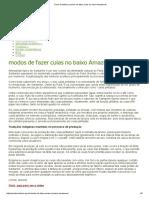 Ponto Solidário _ Modos de Fazer Cuias No Baixo Amazonas