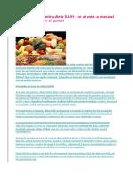 Plan Alimentar Pentru Dieta DASH