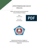 Analisa Swot Puskesmas Kecamatan Cimalaka
