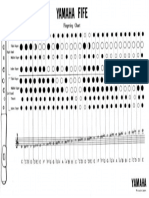 Fingering Chart Fife Yamaha YRF-21