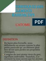 Caracteristiques Des Elemets Radioactifs (1)