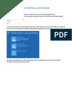 Ripristinare Windows EFI