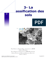 La classification des sols