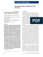 Terbinafine pharmacokinetics after single dose oral administration in the dog