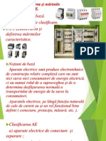 1.1 CLASIFICAREA APARATELOR ELECTRICE ,marimi nominale$caracteristici tehnice ale AE