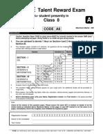 Fiitjee Ftre 2013-Paper 2 Class 8