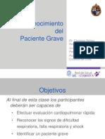 Reconocimiento Paciente Grave