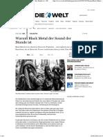 Negative Dialektik_ Warum Black Metal Der Sound Der Stunde Ist - DIE WELT
