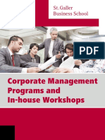 Corporate Management Programs and in-house Workshops St.gallen