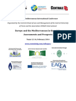 Second Mediterranean International Conference Europe and the Mediterranean in the Crisis Assessments and Prospects